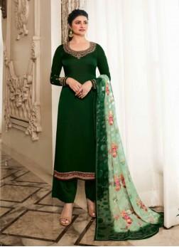 Fashionable Embroidered Georgette Pakistani Suit I
