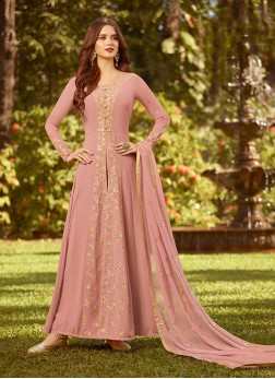 Fashionable Georgette Embroidered Designer Salwar Suit