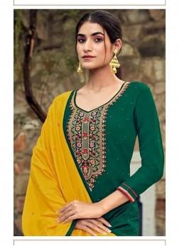 Festival Wear Swarovski Work On Salwar Suit In Green