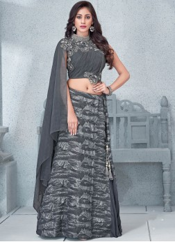 Flamboyant Embroidered Wedding Lehenga Choli
