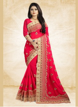 Flamboyant Fuchsia Party Classic Designer Saree