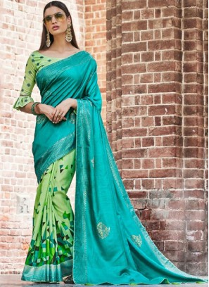 Flattering Embroidered Ceremonial Traditional Saree