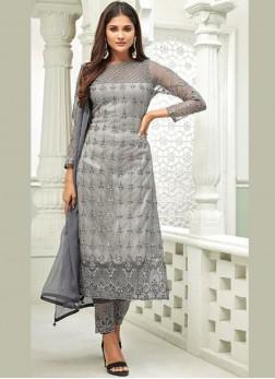 Glorious Grey Designer Salwar Suit