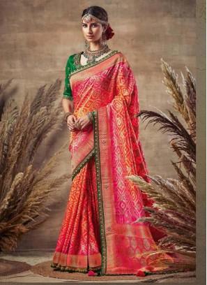 Grand Rani-Green Siroski Diamond Pallu Pure Soft Silk