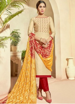Gratifying Embroidered Pant Style Suit