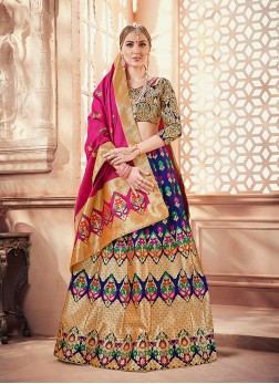 Gratifying Weaving Designer Lehenga Choli