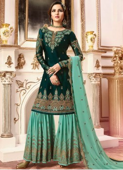 Green Festival Designer Pakistani Suit