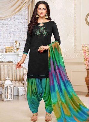 Groovy Black Party Designer Patiala Suit