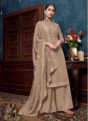 Hand Work Embroidery Wedding Salwar Suit In