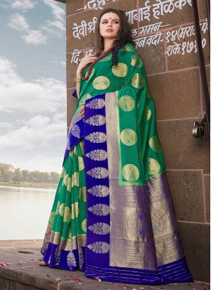 Haute Weaving Art Silk Designer Traditional Saree