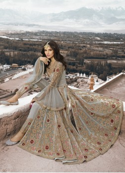 Heavenly Net Grey Designer Salwar Suit
