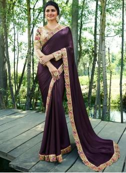 Immaculate Embroidered Prachi Desai Art Silk Classic Saree