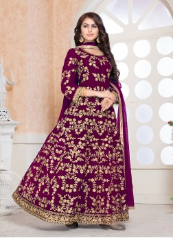 Immaculate Floor Length Anarkali Suit For Sangeet