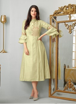Impeccable Cotton Festival Party Wear Kurti