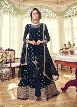 Imperial Georgette Mehndi Designer Salwar Suit