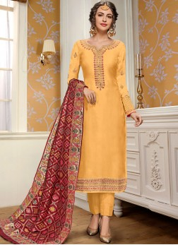 Imperial Georgette Satin Salwar Suit