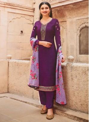 Impressive Festival Look designer Salwar Suit On Purple - Violet