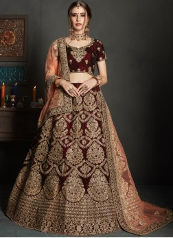 Impressive Velvet Lehenga Choli