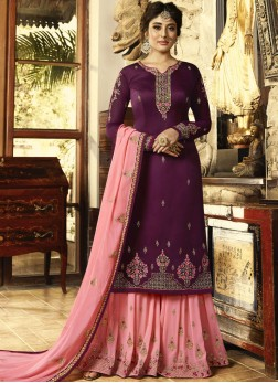 Innovative Zari Purple Designer Pakistani Suit