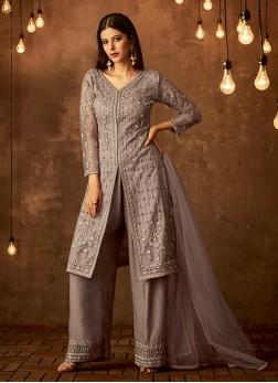 Invigorating Lavender Party Designer Palazzo Salwar Suit