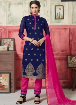 Invigorating Weaving Jacquard Silk Designer Suit