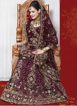 Irresistible Maroon Nylon full Handwork Lehenga Choli