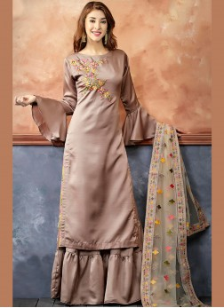 Jazzy Embroidered Readymade Suit