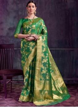 Jazzy Green Designer Traditional Saree