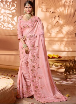 Latest Shimmer Georgette Traditional Saree