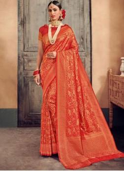 Latest Weaving Wedding Designer Traditional Saree