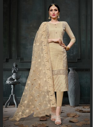 Lavish Designer Straight Suit For Festival