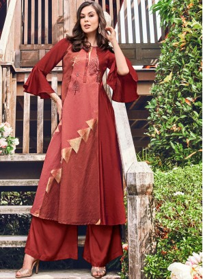 Lavish Fancy Fabric Party Wear Kurti