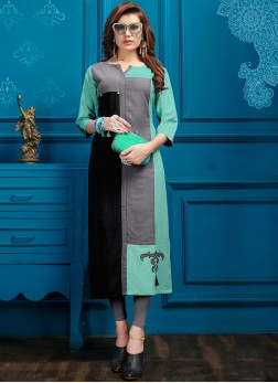 Lavish Fancy Multi Colour Cotton Party Wear Kurti