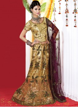 Lively Embroidered Yellow Lehenga Choli