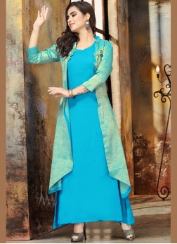 Lovely Blue Party Party Wear Kurti