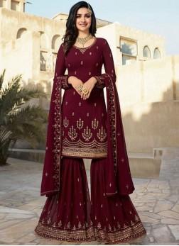 Lovely Resham Prachi Desai Designer Palazzo Suit