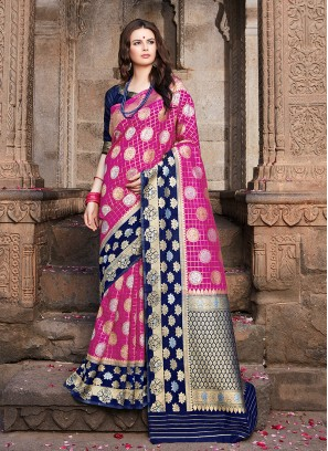 Magenta Weaving Party Designer Traditional Saree