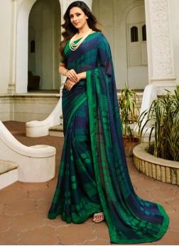 Magnetic Printed Multi Colour Silk Designer Saree