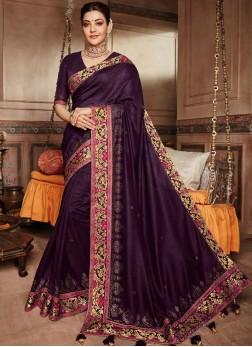 Magnificent Art Silk Mehndi Classic Saree