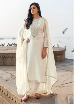 Magnificent Embroidery Georgette Pant Style Salwar