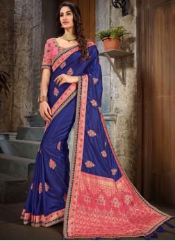 Majestic Embroidered Classic Saree