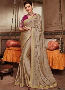 Majestic Embroidered Trendy Saree