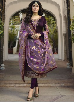 Majestic Embroidered Wedding Churidar Salwar Suit