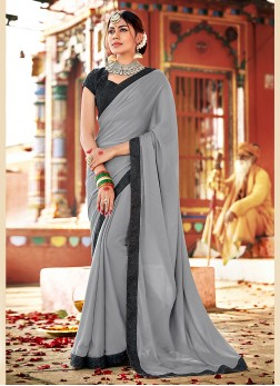 Marvelous Grey Saree