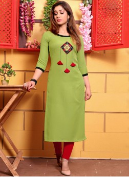 Masterly Green Party Wear Kurti