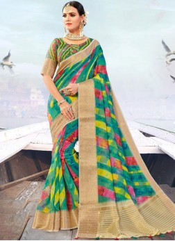 Masterly Multi Colour Fancy Fabric Designer Traditional Saree