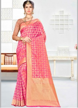 Mesmeric Banarasi Silk Wedding Designer Saree