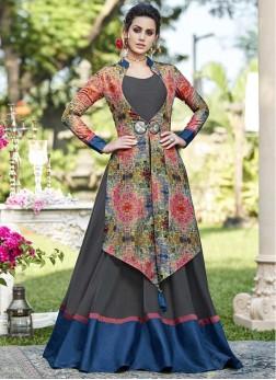 Mesmerizing Tussar Silk Festival Designer Gown
