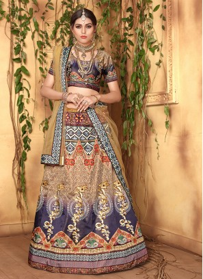 Mod Satin Wedding Designer Lehenga Choli