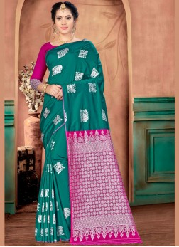 Modern Banarasi Silk Ceremonial Traditional Saree